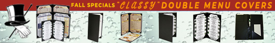 Hot Items Classy Double Menu Covers