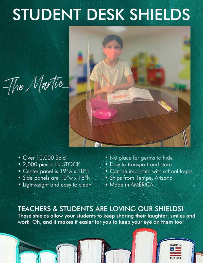 Student Desk Shields - Martie x All Book Covers