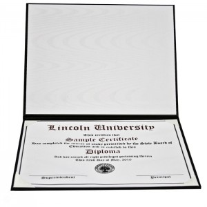 "8-1/2 x 11"" Padded Deluxe Certificate Cover 14ALL"