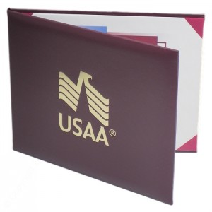 """Deluxe Saver Certificate Covers - White 15 pt. Board Liner 8-1/2 x 11"""""""