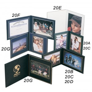 """Superior Double Photo-Certificate Frames Book Style 9 x 9"""""""