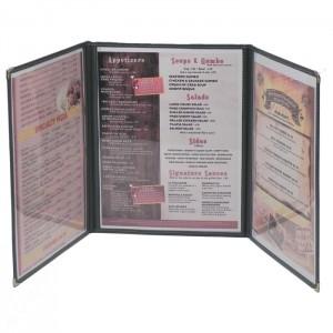 Cafe Menu Covers-3 Fold Triple Panel-8 1/2×11