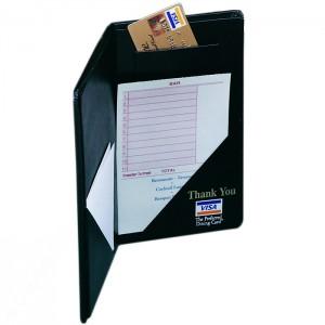 Guest Check Presentors-2 Diagonal Pockets + Credit Card Pocket