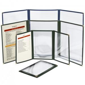 Cafe Menu Covers-3 Fold Triple Panel-5 1/2 × 8 1/2