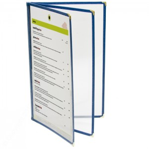 Cafe Menu Covers-Book Style Three Panel-8 1/4 × 14