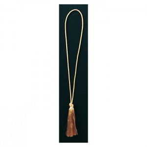 Stretch Cord with Rayon Tassel End: Metalic Gold or Silver