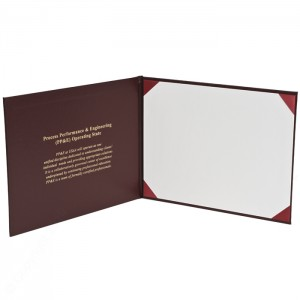 Deluxe Saver Certificate Covers - White 15 pt. Board Liner 8 × 10""