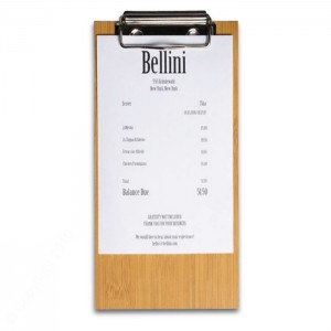 Natural Wood Check Presenters Clipboard-Style