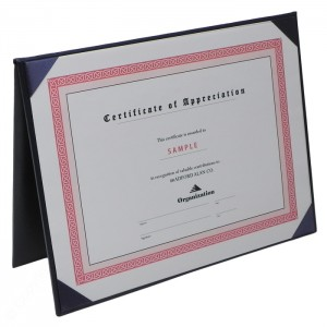 """Deluxe Certificate Covers - Flat Cover – 5 1/2 × 7 1/2"""""""