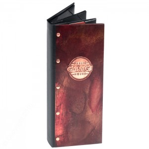 custom copper menu covers