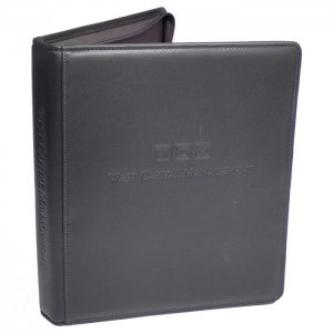 "Top Grain 1"" Zippered Ring Binder, Sr."