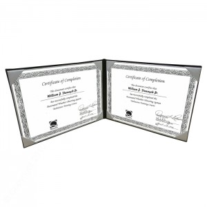 """8-1/2 x 11"""" Double Panel Certificate Cover Landscape Style TG872"""