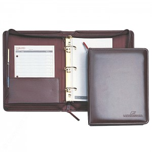 "Vinyl 1"" Deluxe Zippered Ring Binder, SR."