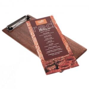 Wood Menu List Clipboard