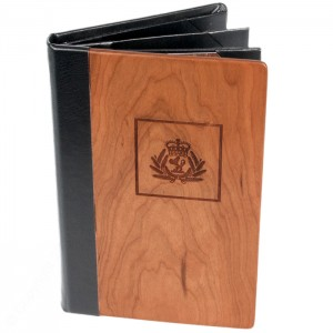 Wood Menu Covers with Multi Panel Pocket 10HS