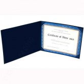 "Deluxe Saver Certificate Covers - White 15 pt. Board Liner 8-1/2 x 11"" 15ALL"