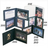 Superior Double Photo-Certificate Frames Book Style 9 x 9""