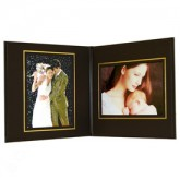LL Superior Double Photo/Certificate Frames - Book Style - 5 x 7""