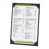 "26BLL Classy Single Panel Menu Covers 8-1/2"" x 11"""