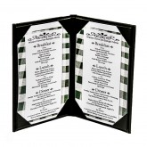 "26ELL Classy Double Panel Menu Covers 8-1/2"" x 11"""