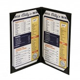"26FLL Classy Double Panel Menu Covers 8-1/2"" x 14"""