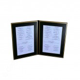 Pocket Menu Covers-Gold Matted Liner Double Panel -5 1/2 × 8 1/2""