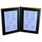 Pocket Menu Covers-Gold Matted Liner Double Panel-8 1/2 × 11""