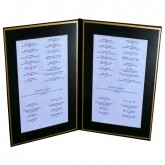 Pocket Menu Covers-Gold Matted Liner Double Panel-8 1/2 × 14""