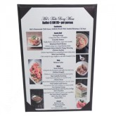 Pocket Menu Covers-Three Fold-5 1/2 × 8 1/2""