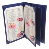 Pocket Menu Covers-Book Style 6 View-8 1/2 × 11""