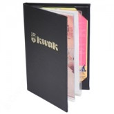Pocket Menu Covers-2 Panel w/Sewn in Protector-5 1/2 × 8 1/2""