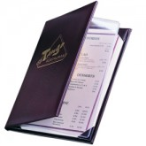 Pocket Menu Covers-2 Panel w/Sewn in Protector-8 1/2 × 11""