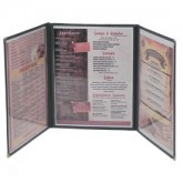 Cafe Menu Covers-3 Fold Triple Panel-8 1/2×11