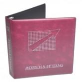 """8-1/2"""" x 11"""" + 1/2"""" Heat Sealed 2-1/2"""" Film Vinyl Binder 4005"""