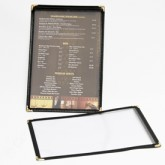 Single Panel Cafe Menu Covers 8 1/4 ×14 Layout