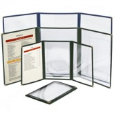 Cafe Menu Covers-3 Fold Triple Panel-5 1/2 × 8 1/2