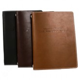 Look Book BH Exhibit - Custom Leather Menu Covers