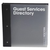 Acrylic New York NY Hotel Guest Directories
