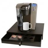 Wood Coffee Platform with Drawer