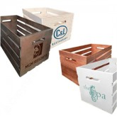 Custom Wood Crates with Graphic Logo