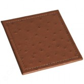 Look Book E - Custom Leather Square Coaster Stitched