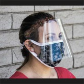 Face Shield with Leather Headband - Side