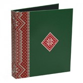 Green with Red Deco Snowflake Ugly Sweater Binders