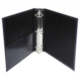 "LB299 8 1/2 x 5 1/2 + 1/2"" Bonded 1"" Ring Binder, Jr."