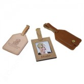 Old World Luggage Tag w/ buckle and strap