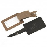 Leather Luggage Tag w/ buckle and strap
