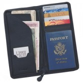 Bonded Zippered Travel Wallet