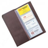 Bonded Leather Business Card File Folio
