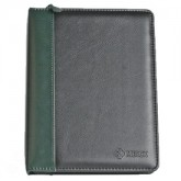 "Top Grain 1 1/2"" Zippered Ring Binder, Jr."