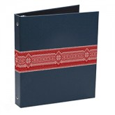 Red Fill Snowflake Blue Ugly Sweater Ring Binders